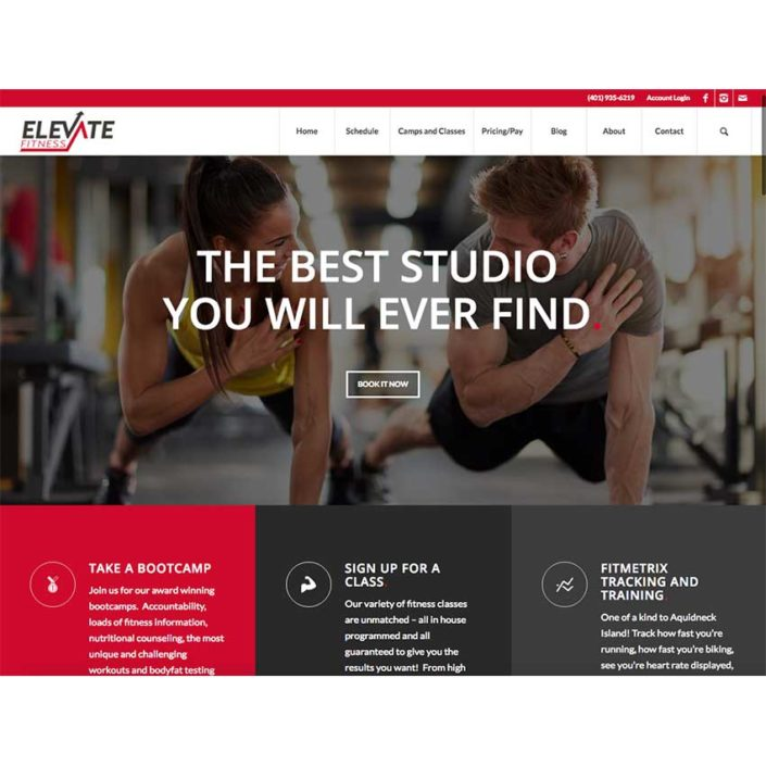 Elevate Fitness Website